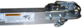 Heavy-duty heat-treated aluminum trailer tongue